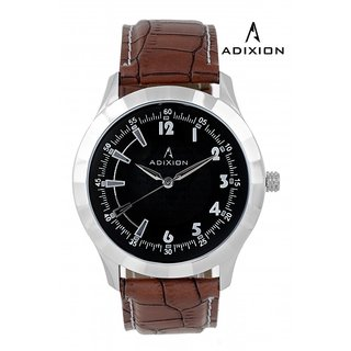 Adixion Black Dial Analog Synthetic Leather Watch For Mens