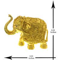 Anuradha  Art Golden Tone Eye-Pleasing Elephant For Ganesh Festival/Decoration