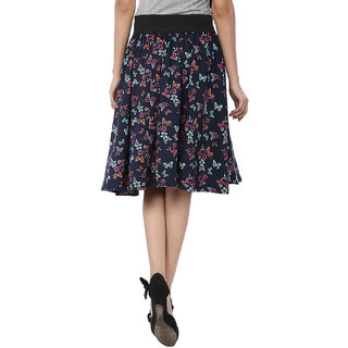 SMART AND GLAM A-LINE WOMENS SKIRT Floral S