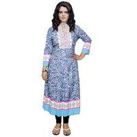 Indistar Women's Pure Cotton Multicolor Printed Kurti