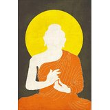 Buddha Orange Drape Silhouette