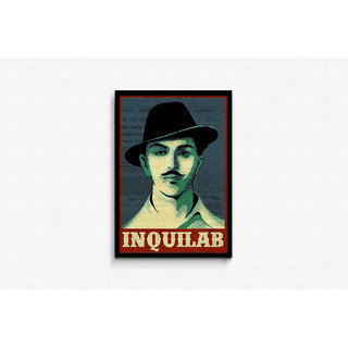Bhagat Singh Inquilab Framed Poster