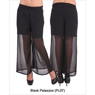 Fbbic Women Black palazzos