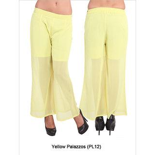 Fbbic Women Yellow palazzos