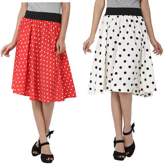 SMART AND GLAM A-LINE WOMENS SKIRT Combo1 S