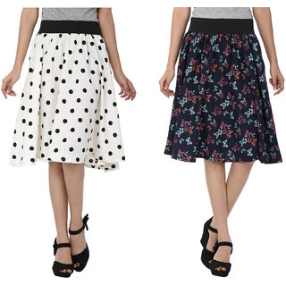 SMART AND GLAM A-LINE WOMENS SKIRT Combo5 S