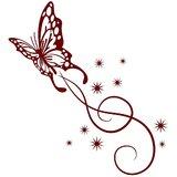 Chipakk Butterfly Swirl- Maroon (Medium)