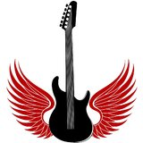 Chipakk Guitar With The Wings- Black (Medium)