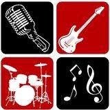 Chipakk Musical Blocks- Red & Black (Medium)