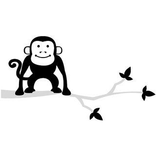 Chipakk Monkey-Black Wall Decal (Small)