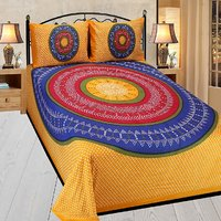 Shopgalore  Cotton  Double Bedsheet With 2 Pillow Covers