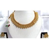 Circles Coins Golden Necklace Set