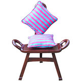 Elements Pink N Blue Linea Cushion Covers - Set Of 5 Pcs
