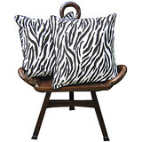 Elements Tiger Black Tiger White Cushion Covers - Set Of 5 Pcs
