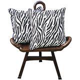 Elements Tiger Black Tiger White Cushion Covers - Set Of 5 Pcs