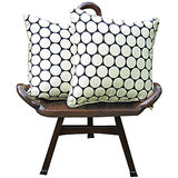 Elements Cream N Polka Design Cushion Covers Set Of 5 Pcs