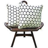 Elements Cream N Polka Design Cushion Covers Set Of 5 Pcs