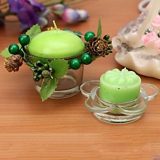 Terro Art Apple Flavaur Candles With Holders Set Of 8Pcs Td-1918
