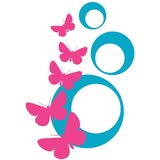 Chipakk Abstract Butterfly - Pink-Blue (Small)