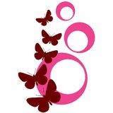 Chipakk Abstract Butterfly - Maroon-Pink (Medium)