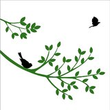Chipakk Bird On The Branch - Green (Small)