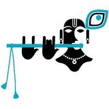 Chipakk Shri Krishna - Black (Small)