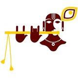 Chipakk Shri Krishna- Maroon (Small)
