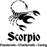 Chipakk Scorpio Zodiac Decal - Black (Small)