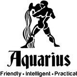 Chipakk Aquarius Zodiac Decal - Black (Small)