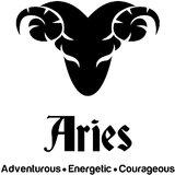 Chipakk Aries Zodiac Decal - Black (Small)