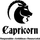 Chipakk Capricorn Zodiac Decal - Black (Small)