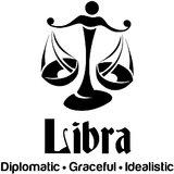 Chipakk Libra Zodiac Decal - Black (Small)