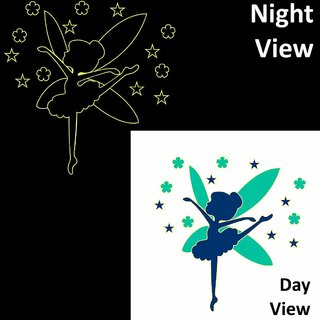 Chipakk Dancing Fairy Blue Wall Decal (Glow In The Dark)