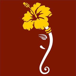 Chipakk Ganesha 3Wall Decal - White (Medium)