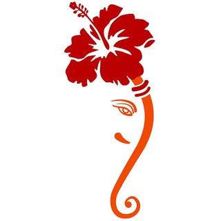 Chipakk Ganesha 3Wall Decal - Orange (Medium)