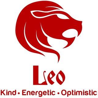 Chipakk Leo Zodiac Decal - Red (Small)