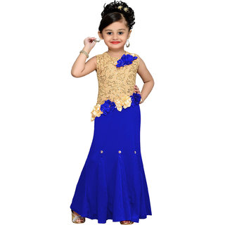 Aarika Girls Floral Design Gown