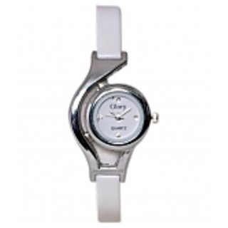 Glory Designer White Analog Watch For Women