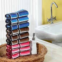 Furhome Cotton Hand Towel Set Of 9.TO1718