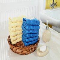 Furhome Cotton Face Towel Set Of 12.TO1722