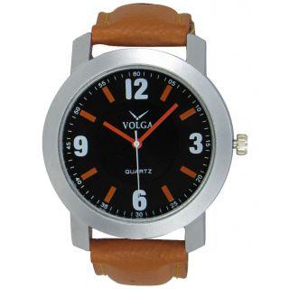 Volga Brown Leather Analog Watch For Men