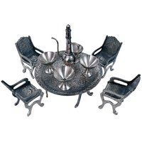 Little India Unique Design Dining Table Chair Maharaja Set