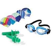 Swimming Cap, Glasses  Ear Plugs for Kids