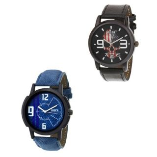 Oura Round Analog Watch For Men Pack Of 2pc
