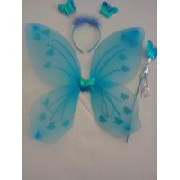 Butterfly sky blue Wing Costume for Baby Girl Angel for Birthday Party Gift