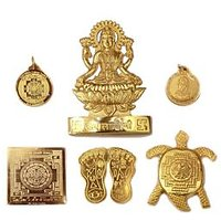 AnkitaGemstones Shri Dhan Laxmi Yantra, God Plated Laxmi Yantra - 6 Pcs Laxmi Yantra