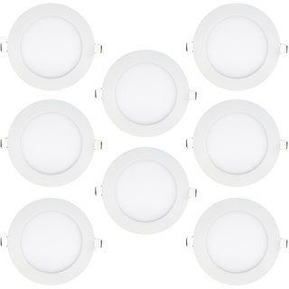Bene LED 18w Round Panel Ceiling Light Color of LED Warm White Yellow Pack of 8 Pcs