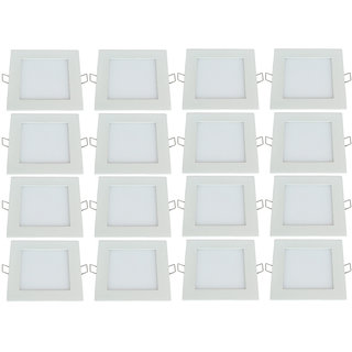Bene LED 18w Square Panel Ceiling Light Color of LED Warm White Yellow Pack of 16 Pcs