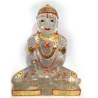 Clear Crystal Quartz Mahavir Swami - 11 Inch