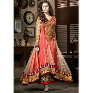 IshiMaya Red Georgette Anarkali Suit